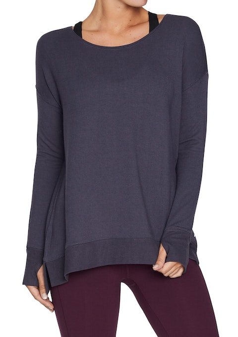 Boysenberry Seam Detail Slouch Sweat