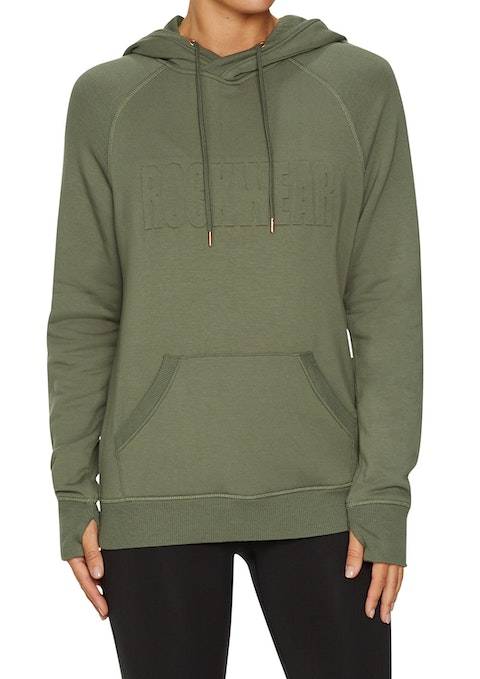 Military Embossed Front Relax Hoodie