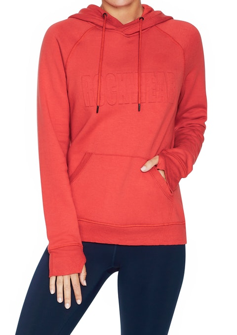 Rosso Embossed Front Relax Hoodie
