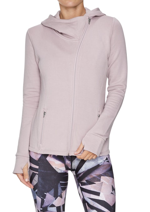 Orchid Asymmetric Relax Hooded Jacket