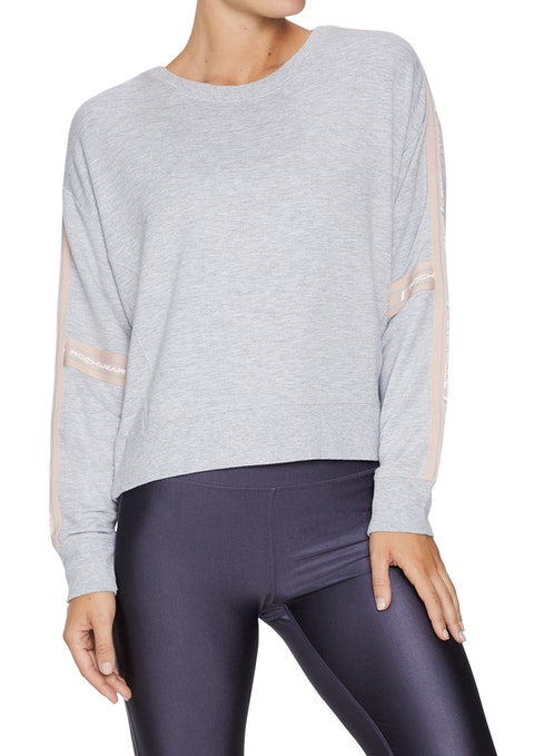 Light Grey Marle Nude Glow Crop Everday Jumper