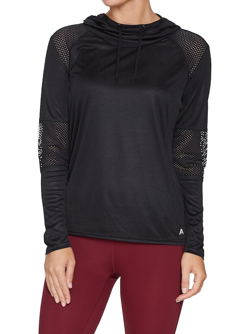 Black Active Mesh Long Sleeve Top