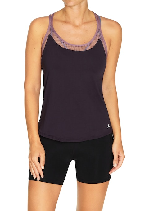 Grape Nevada Mesh Panel Singlet