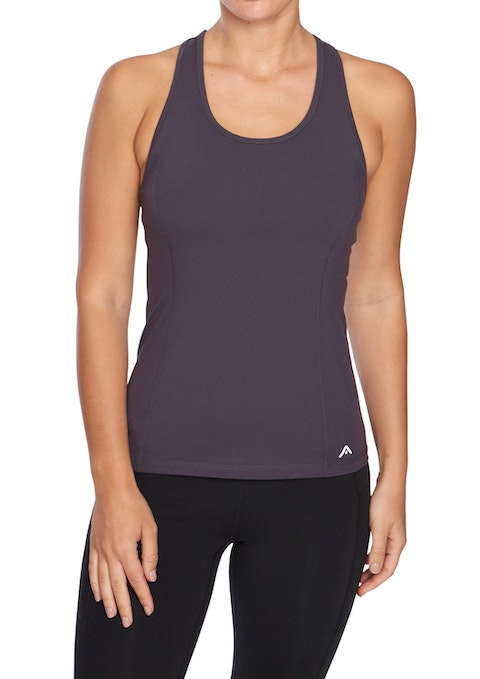 Grape Nevada Luxesoft Macrame Singlet