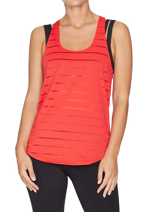 Rosso Traction Logo Elastic Back Singlet