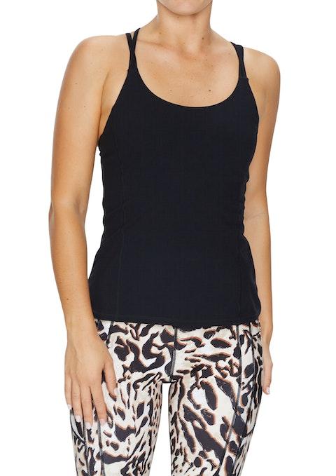 Black Sumatra Strap Support Singlet
