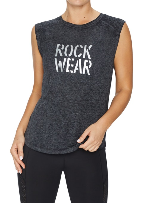 Charcoal Gravity Raglan Seam Casual Tank
