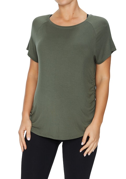 Military Maternity Ruch Side Tee