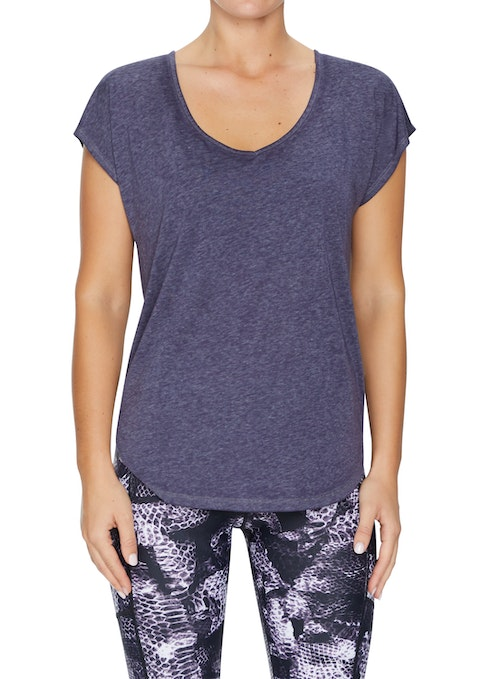 Boysenberry Zena Racer Back Washed Tee