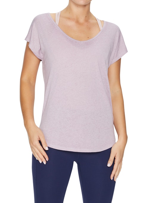 Orchid Zena Racer Back Washed Tee