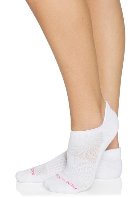 White Training Cushioned Heel Socks