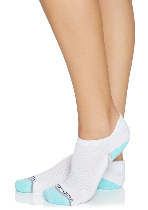 White Aegean/ White Colour  Blocked Training Socks