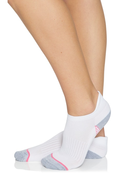 White Pink / White Colour  Blocked Training Socks