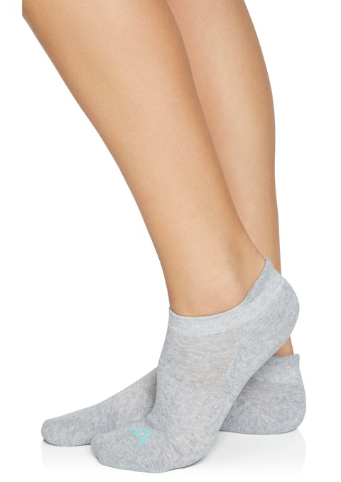 Grey Marle Cotton Blend Training Socks