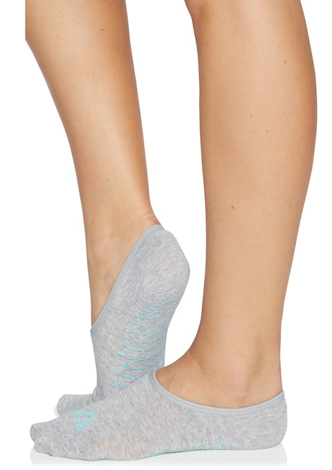 Grey Marle Non Slip Studio Barre Grip Socks