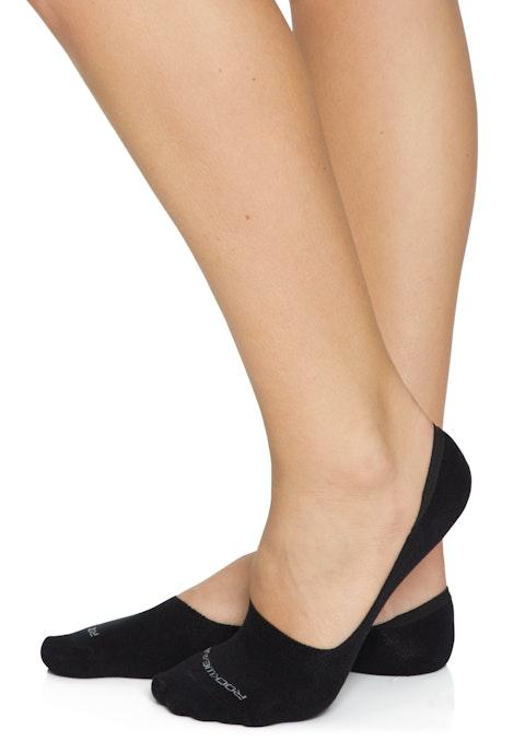 Black No Show Low Cut Cotton Sock