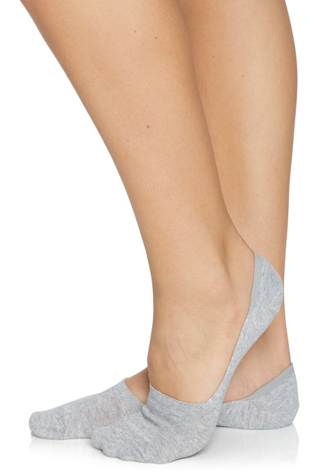 Grey Marle No Show Low Cut Cotton Sock