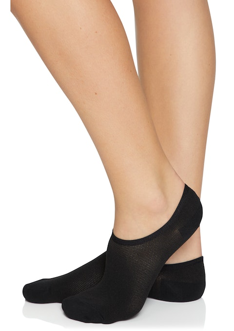 Black No Show Ankle Cut Socks