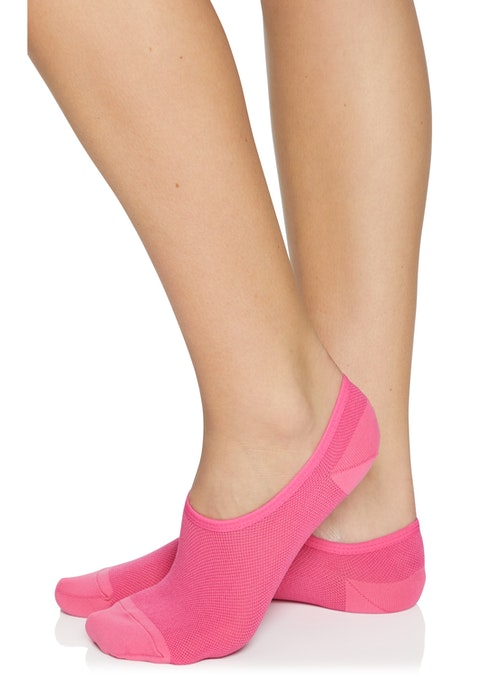 Neon Pink Ankle Cut No Show Socks