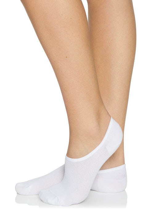 White Ankle Cut No Show Socks