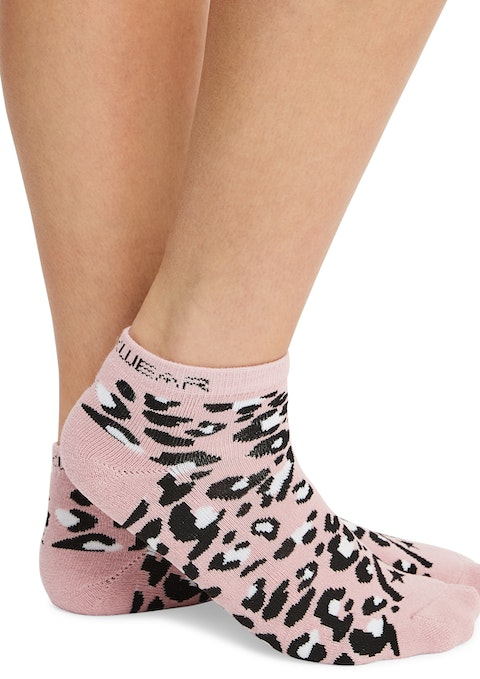 Snow Leopard No Show Ankle Cut Socks
