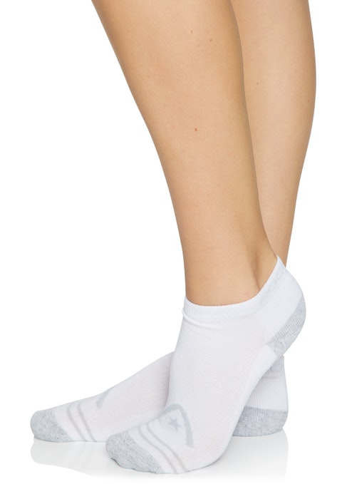 White Gery / White No Show Ankle Cut Socks