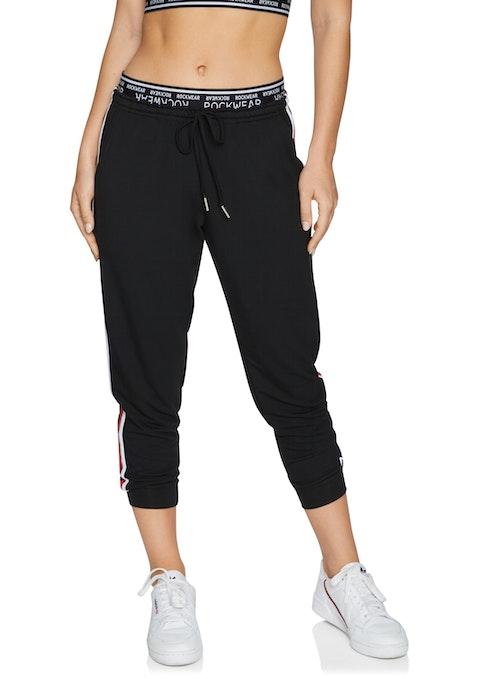 Black 7/8 Side Stripe Track Pant