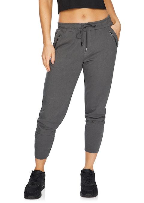 Gunmetal Casual Zip Pocket Pant