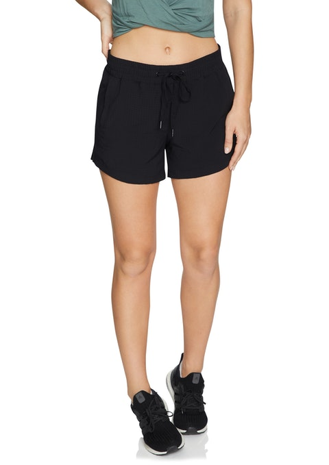Black Casual Perforated Short