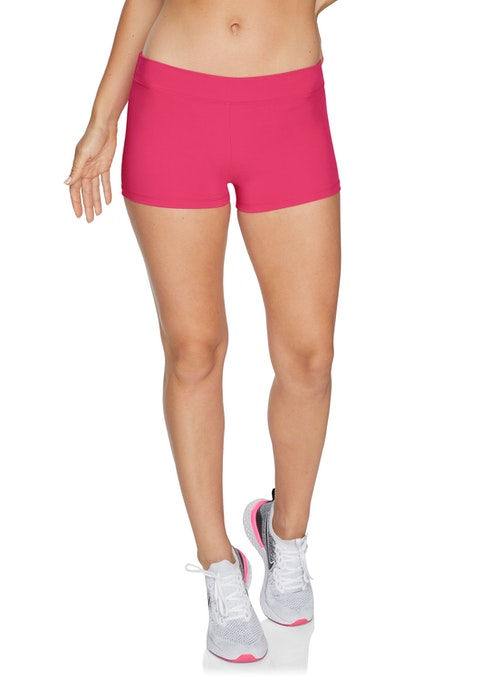 Cerise Cool Touch Low Rise Booty Shorts