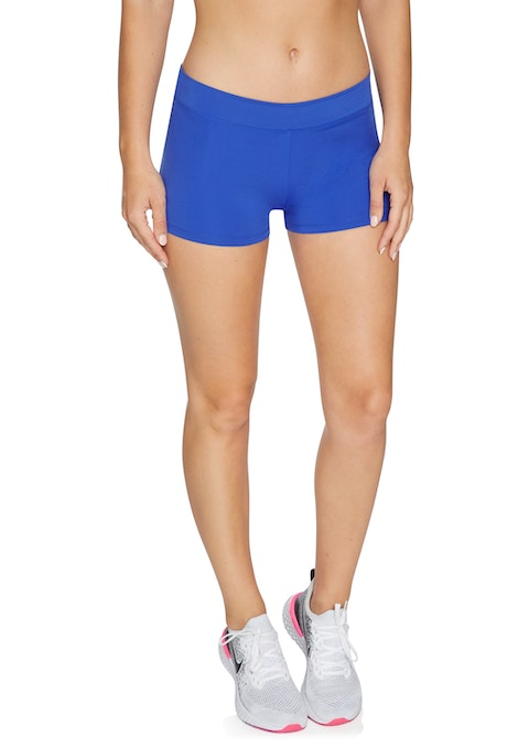Hyper Blue Cool Touch Low Rise Booty Shorts