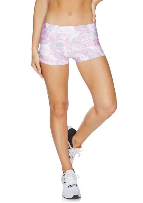 Pink Waterlily Cool Touch Low Rise Booty Shorts