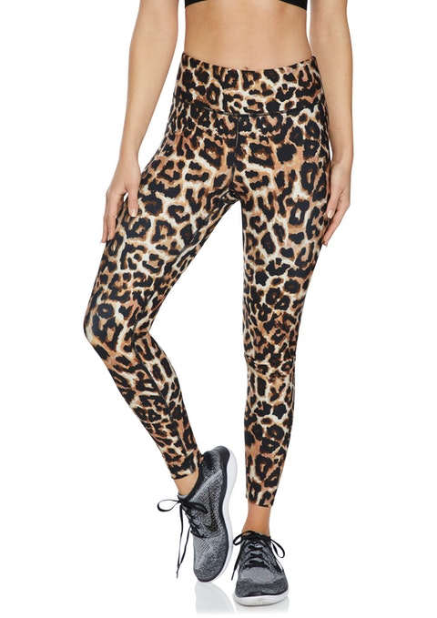 Leopard Squad Leopard Print Full Length Tights