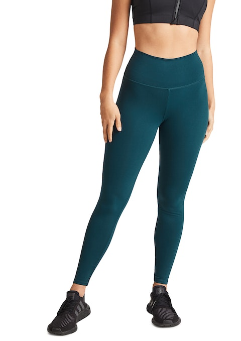 Dark Teal Scrunch Bum Full Length Tights