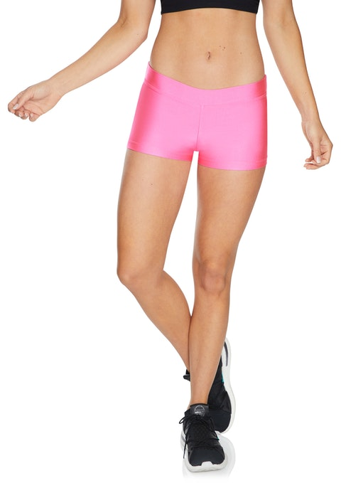 Neon Pink Low Rise Coloured Booty Shorts
