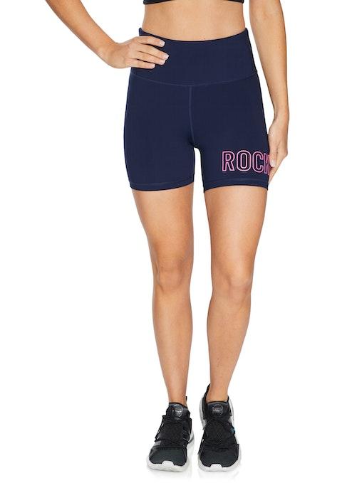 French Navy Supplex® Rockwear Logo Bike Shorts