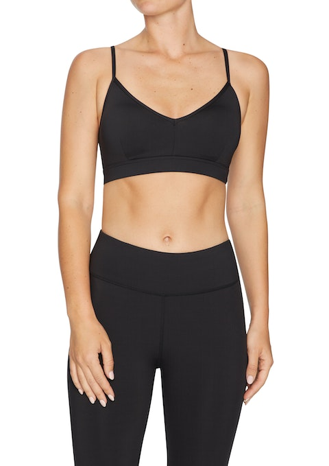 Black Low Impact Strappy Sports Bra