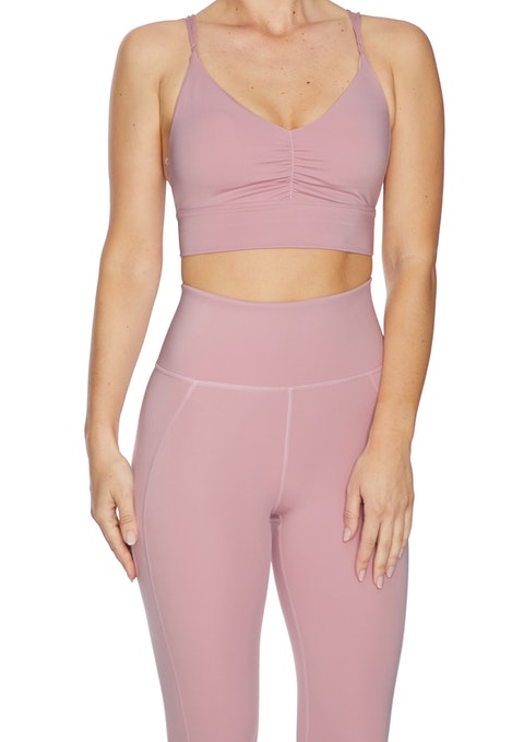 Musk Rouched Low Impact Flow Sports Bra