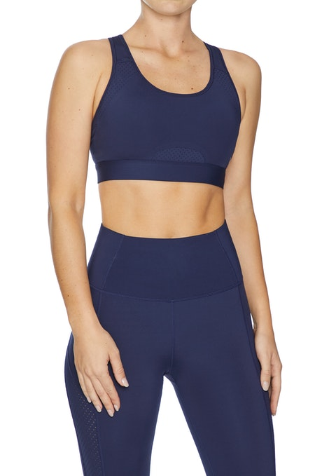 French Navy Compression High Impact Speed Bonded Sports Bra