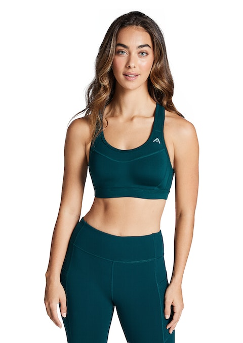 Dark Teal Moulded High Impact Olympic Sports Bra