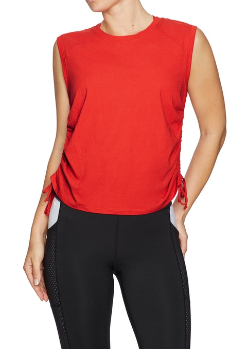 Rosso Olympia Side Tie Active Tank