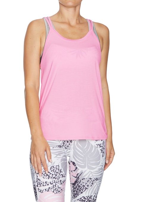 Baby Pink Hey Baby Strappy Active Singlet
