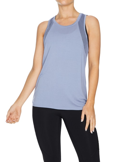 Periwinkle Limitless Mesh Active Singlet