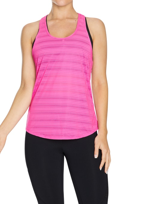 Neon Pink Success Keyhole Work Out Singlet