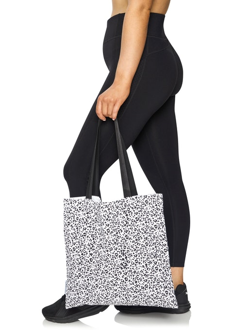 Black And White Canvas Tote Bag