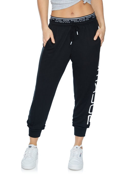 Black Rockwear Logo Track Pants