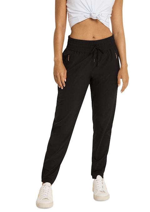 Black Flex Pull Up Full Length Pants