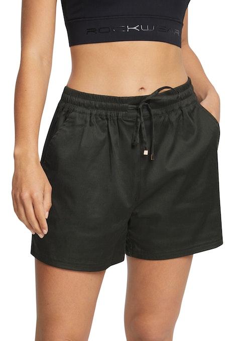 Khaki Woven Pocket Short
