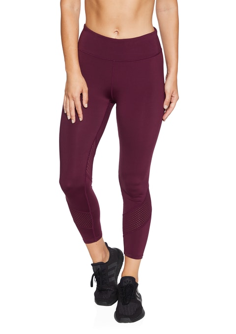 Garnet Perforated Wrap Ankle Grazer Tights