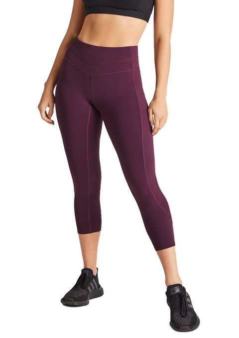 Bordeaux Cross Pocket 7/8 Tights